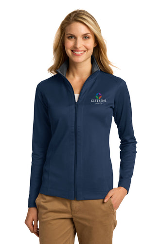Port Authority® Ladies Vertical Texture Full-Zip Jacket - CH