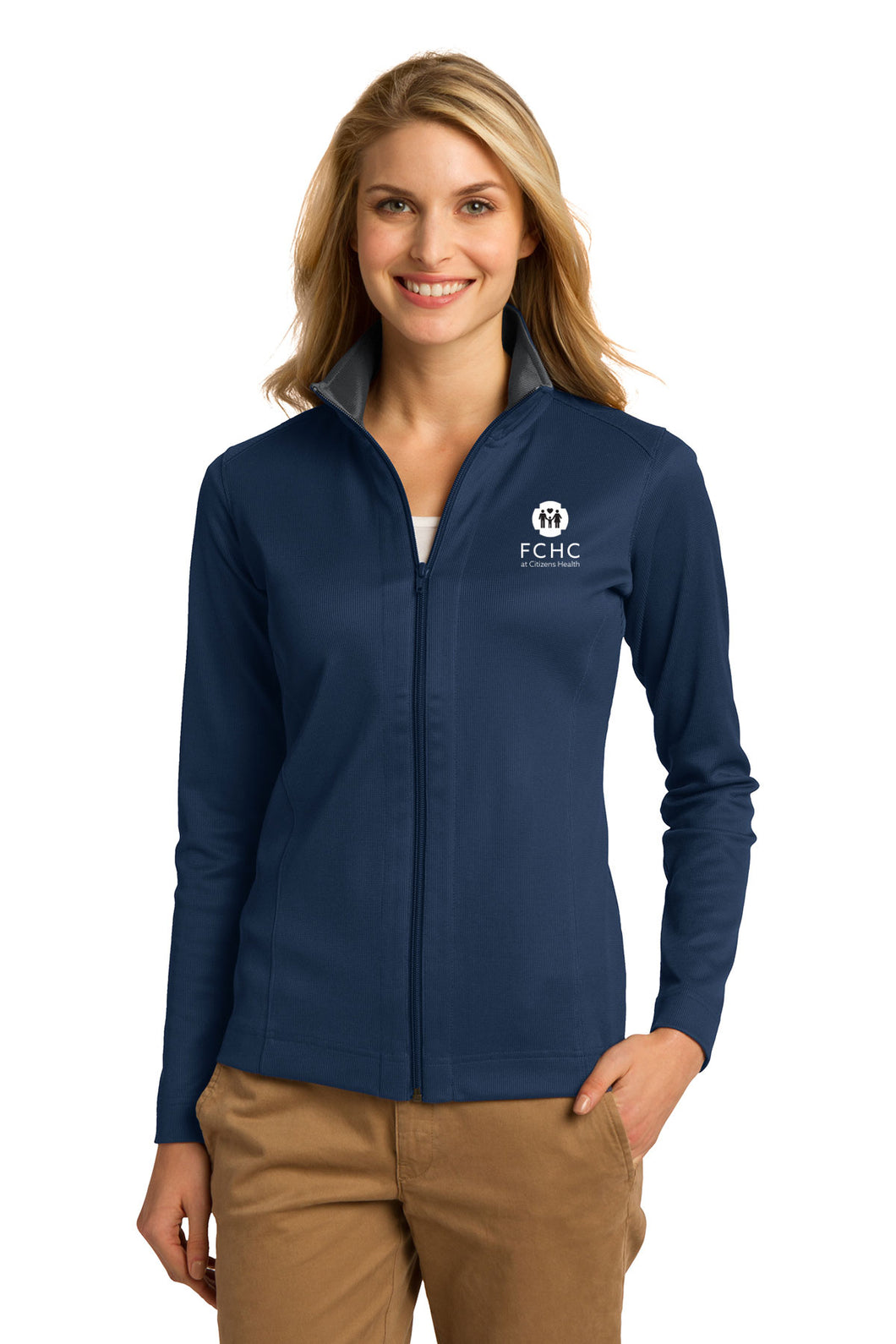 Port Authority® Ladies Vertical Texture Full-Zip Jacket - FCHC