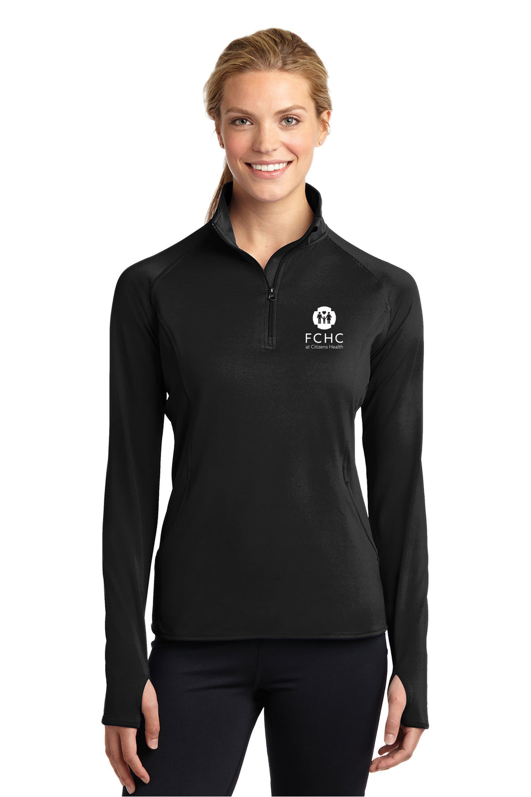 Sport-Tek® Ladies Sport-Wick® Stretch 1/2-Zip Pullover - FCHC