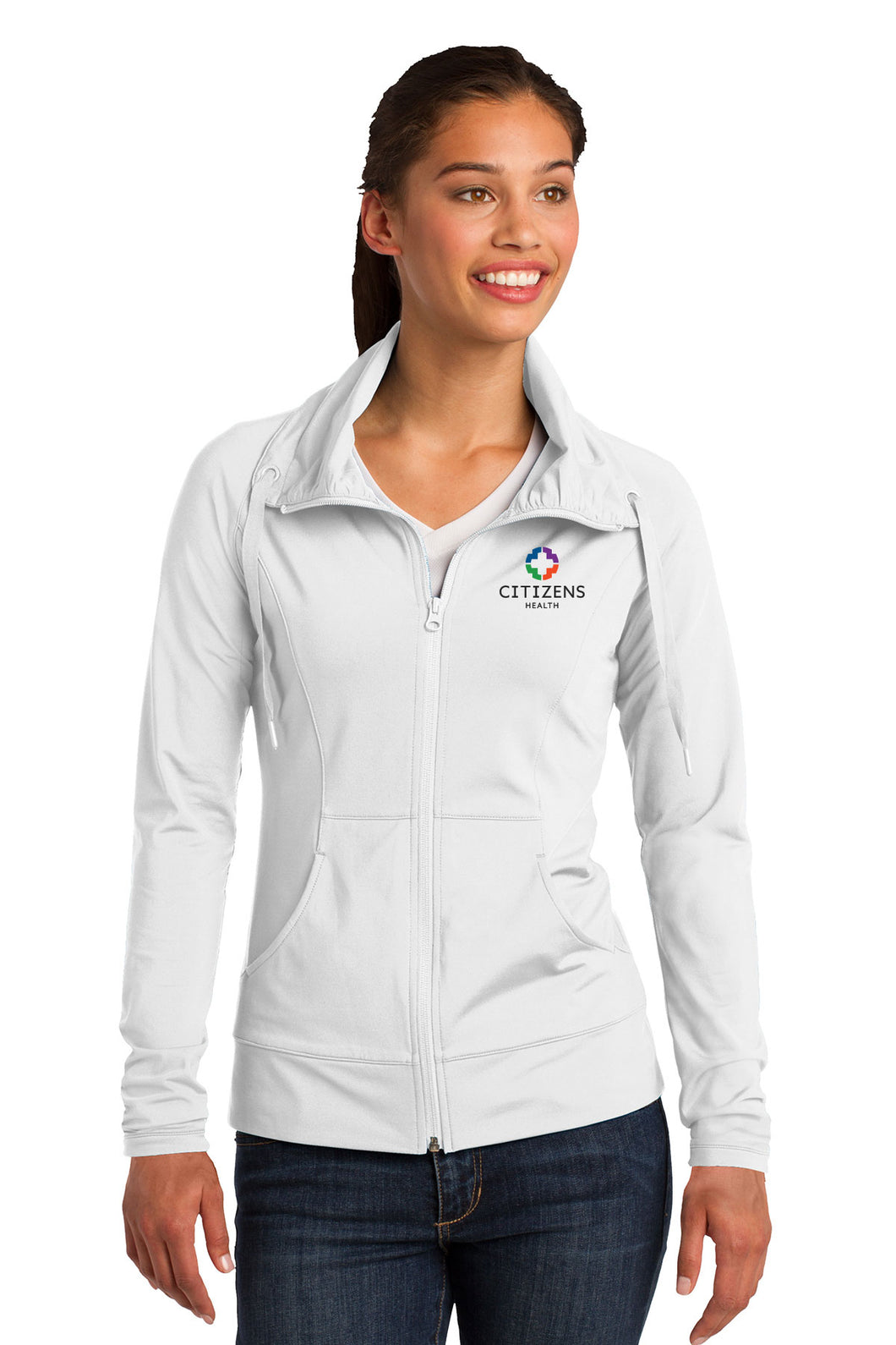 Sport-Tek® Ladies Sport-Wick® Stretch Full-Zip Jacket - CH