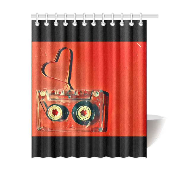 "Dub Love fly Shower Curtain 60""x72"""