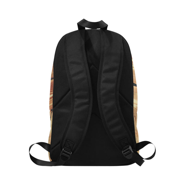 Wood Grain Fabric Backpack for Adult