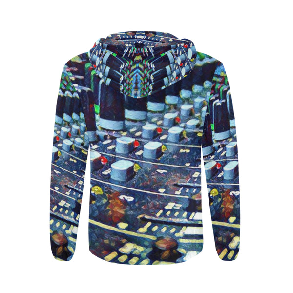 Faded Faders Up All Over Print Full Zip Hoodie