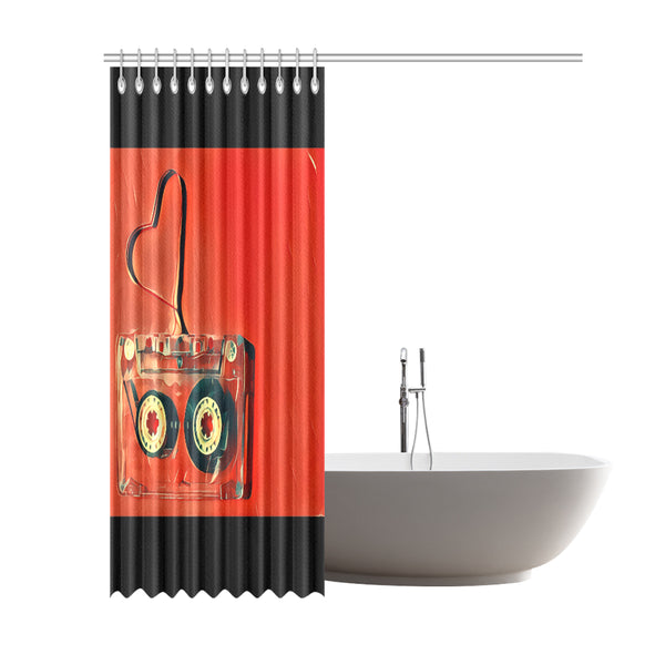 "Dub Love fly Shower Curtain 69""x84"""