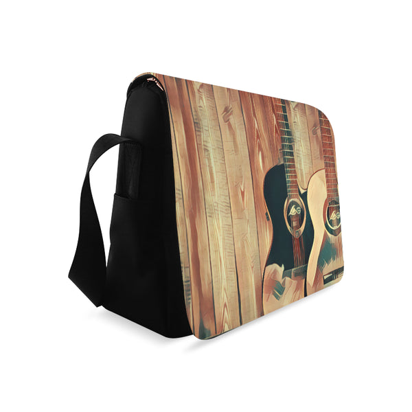 Wood Grain Messenger Bag