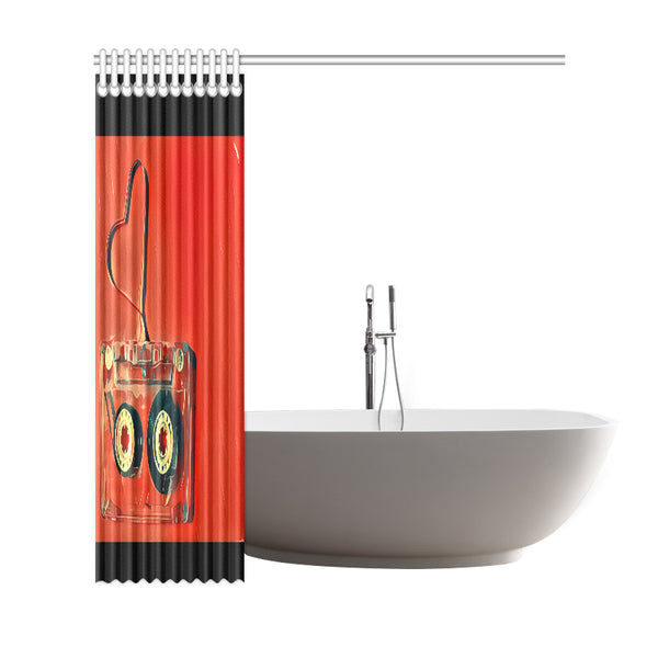"Dub Love fly Shower Curtain 69""x72"""