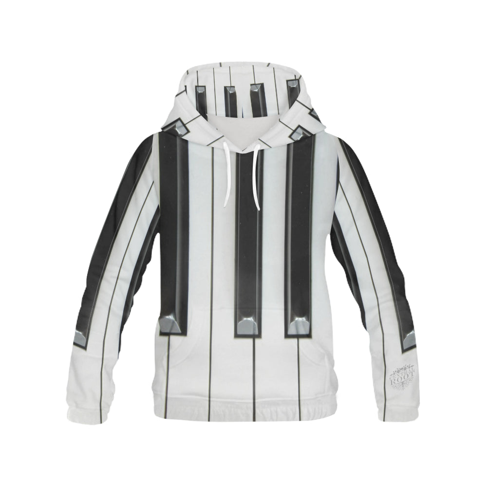 Root Piano All Over Print Hoodie for Men