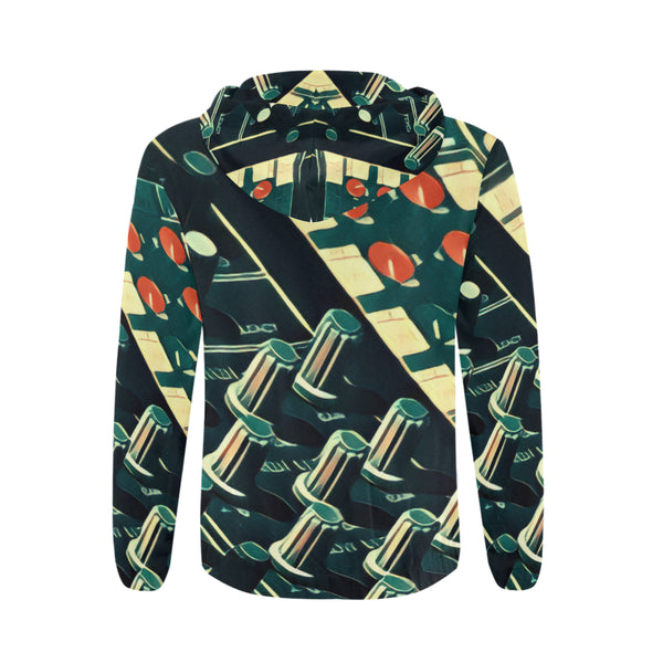 The Pots All Over Print Full Zip Hoodie for Men
