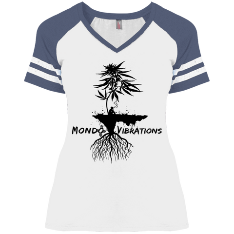 Mondo Vibrations Island Ladies' Game V-Neck T-Shirt