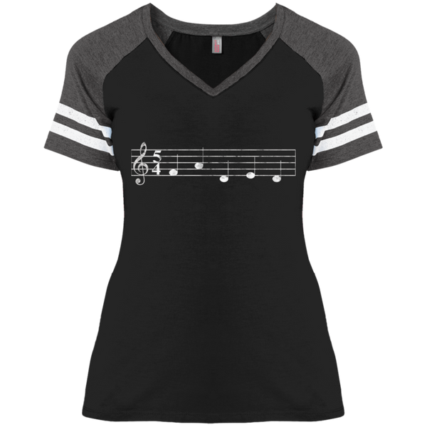 FADED Staff Ladies' Game V-Neck T-Shirt
