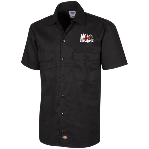 Mondo Vibrations Logo Dickies Men's Short Sleeve Workshirt