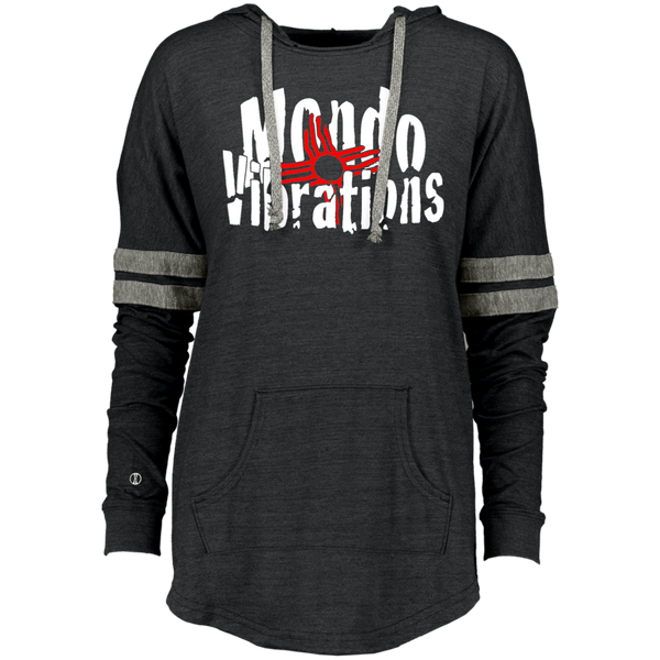 Mondo Vibrations Logo Ladies Hooded Low Key Pullover