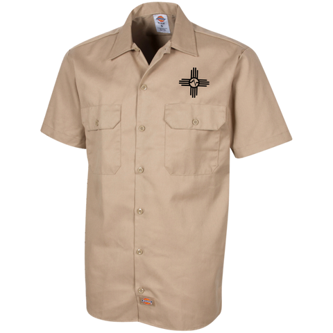Mondo Vibrations Zia Dickies Men's Short Sleeve Workshirt
