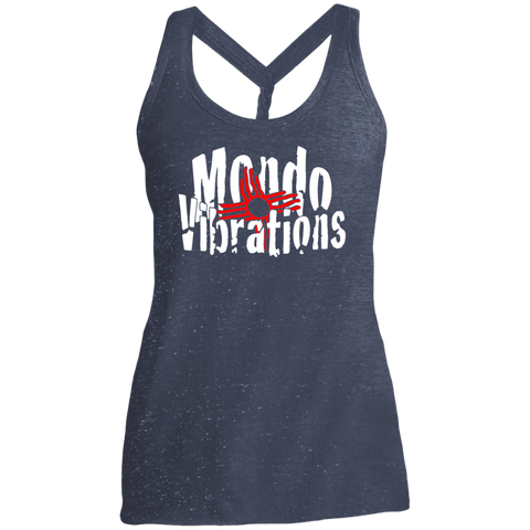 Mondo Vibrations Logo Ladies Cosmic Twist Back Tank