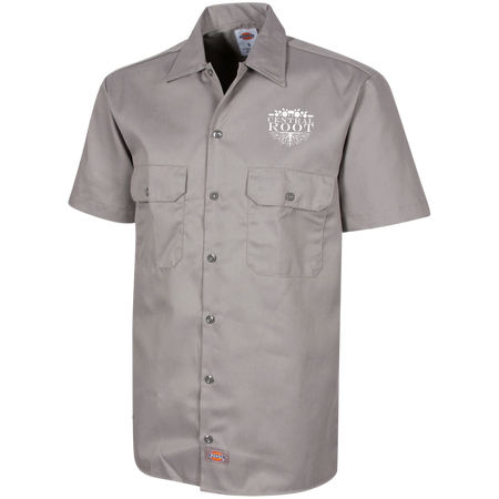 Central Root Dickies Men's Short Sleeve Workshirt