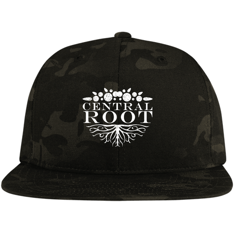 Central Root Flat Bill High-Profile Snapback Hat