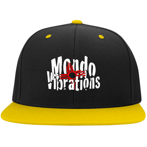 Mondo Vibrations Logo Flat Bill High-Profile Snapback Hat