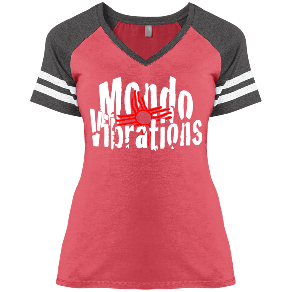 Mondo Vibrations Logo Ladies' Game V-Neck T-Shirt