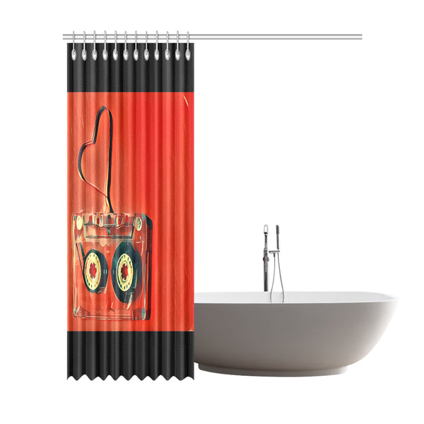"Dub Love fly Shower Curtain 72""x84"""