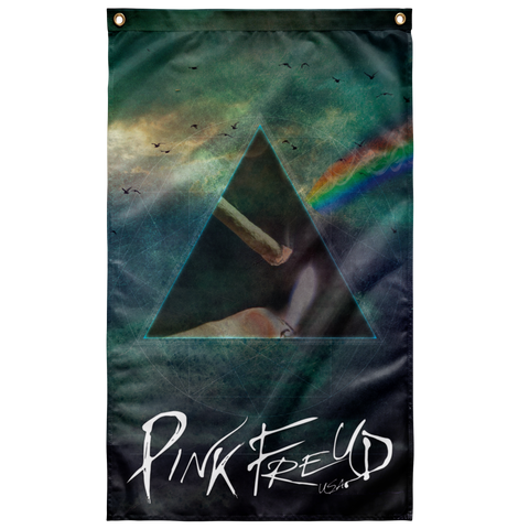 Pink Freud Dank Side of the Moon Flag