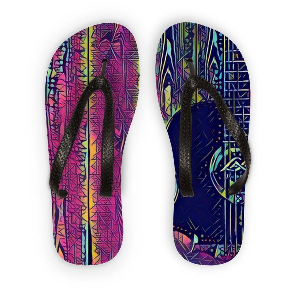 Wood Grain Electric Flip Flops