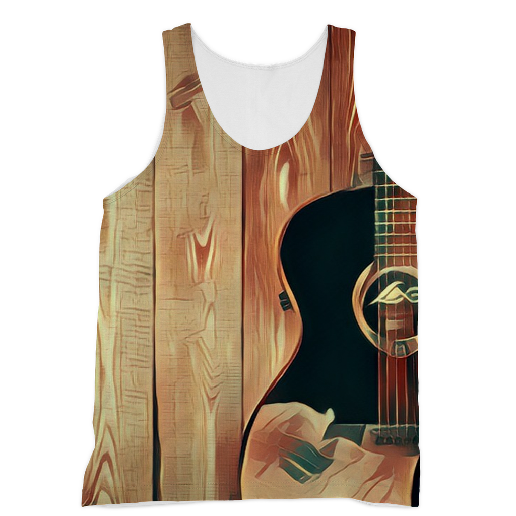 Wood Grain Gold Vest