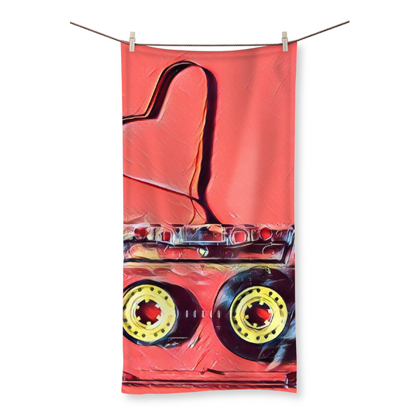 Dub Love Pink Beach Towel