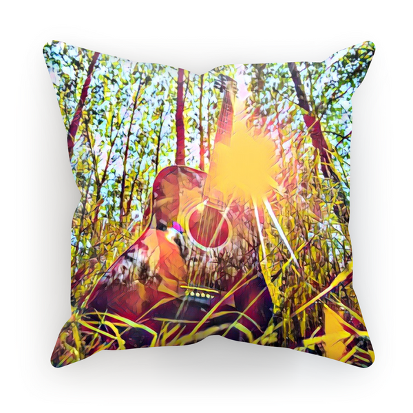 Guitar Forest Cushion Cover