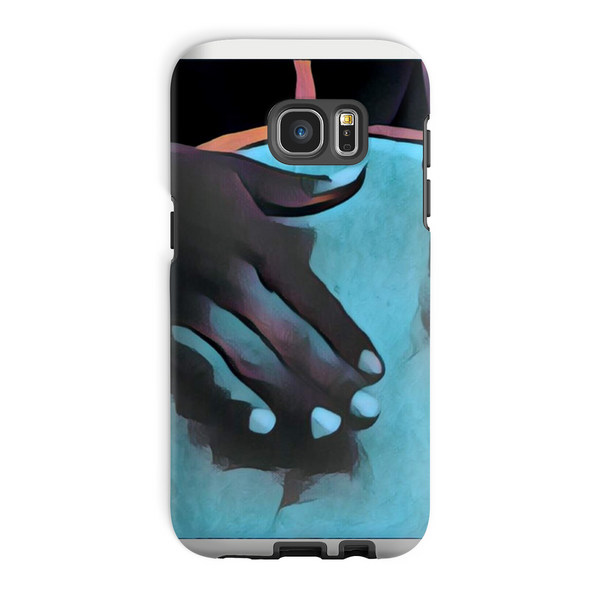 Talking Drums Blue Perspective Phone Case