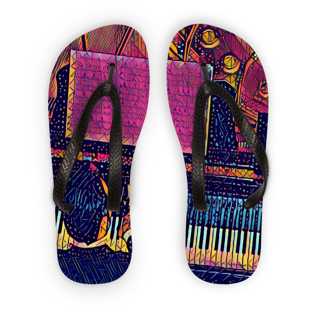 Hands On Birdseye Electric Flip Flops