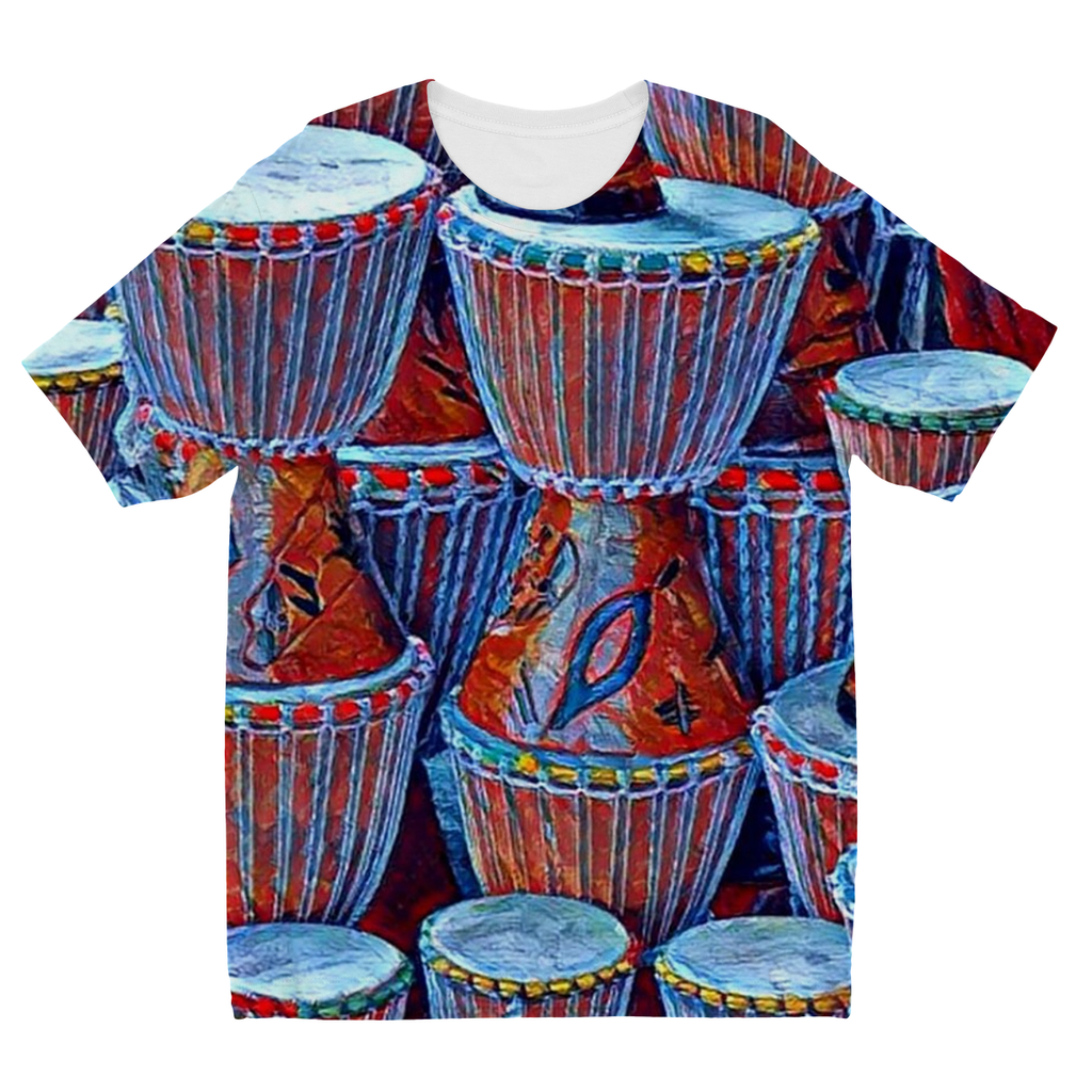 Kids Talking Drums Blue T-Shirt