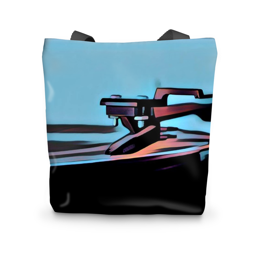 In The Groove Blue Tote Bag