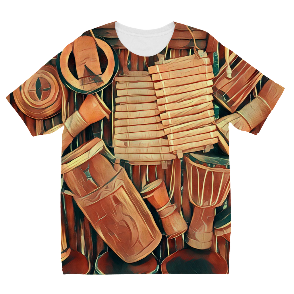 Kids Talking Drums Hanging Fly T-Shirt