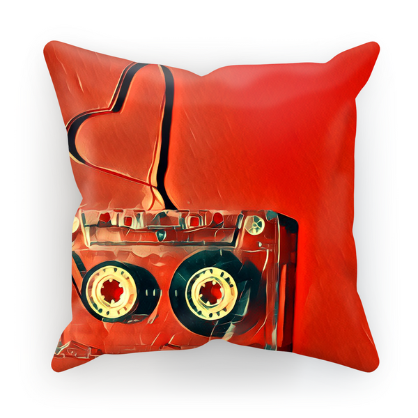 Dub Love Red Cushion Cover