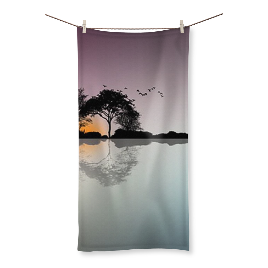 Horizon Dusk Beach Towel