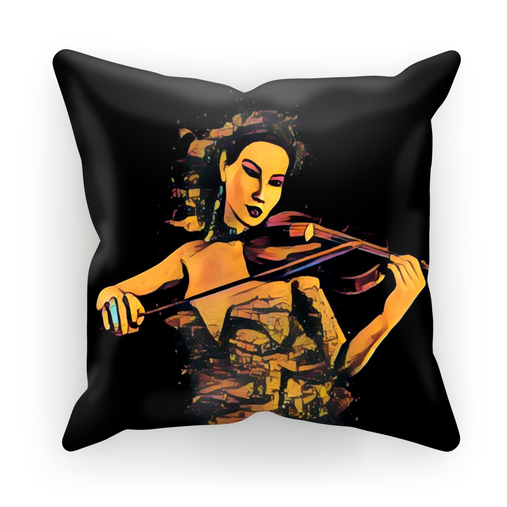 Violin Expression Cushion Cover