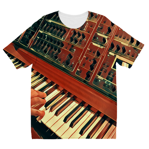 Kids Hands On Keys Fly T-Shirt