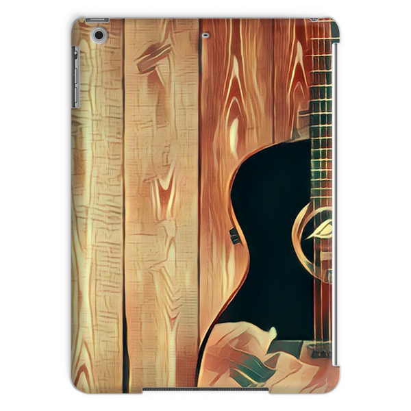Wood Grain Gold Tablet Case