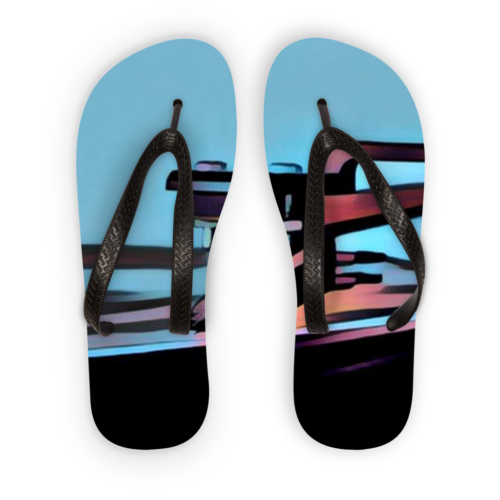In The Groove Blue Flip Flops