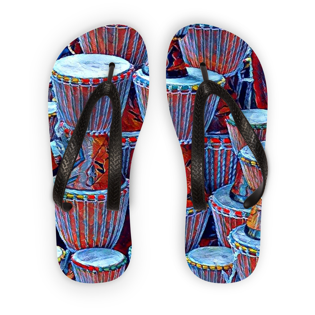 Talking Drums Blue Flip Flops