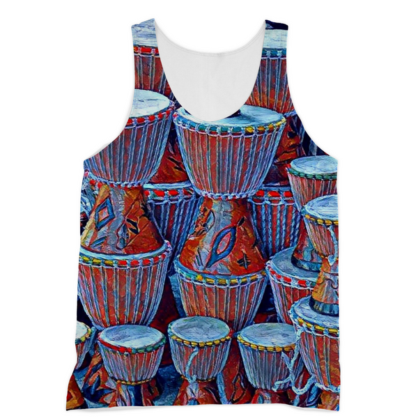Talking Drums Blue Tank Top