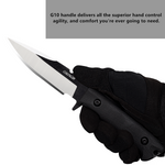 Oerla OLK-035PK Outdoor Fixed Blade Fine Edge with G10 Handle and Kydex Sheath