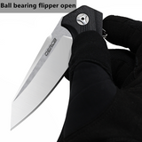 "OERLA TAC OLF-0027 EDC Pocket Folding Blade 420HC Ball Bearing Flipper Knife G10 Handle- 3.54"" Blade"