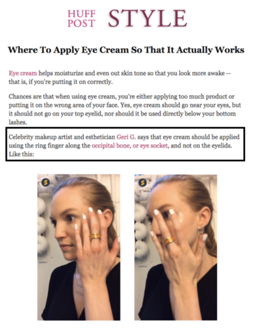 Where To Apply Eye Cream