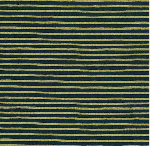 By the Yard - Rifle Paper English Garden Navy Metallic Stripes