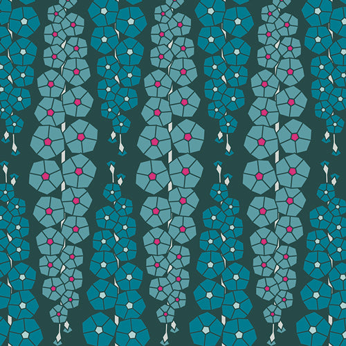 Loved to Pieces - Gladiolumns Deepbluem in Rayon