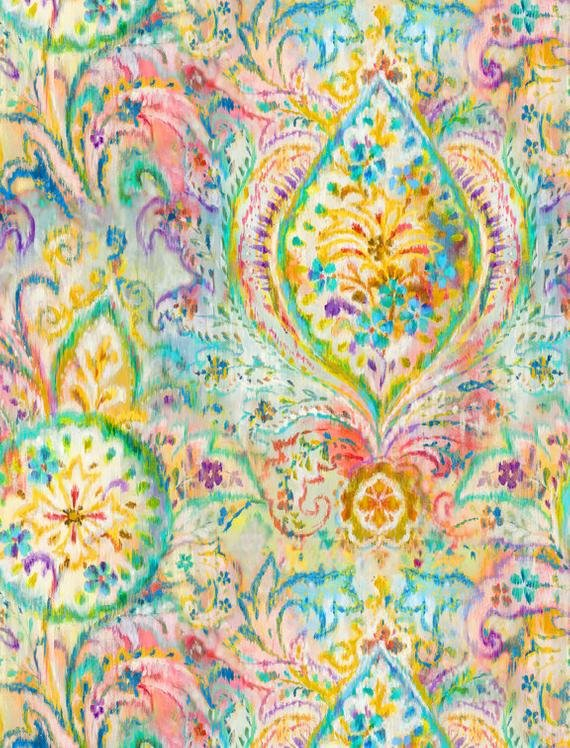 Wilmington Prints Bohemian Dreams Yellow Boho Paisley