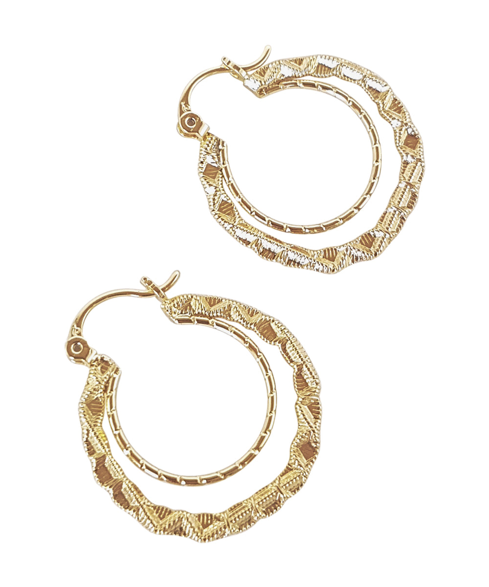 Gold Double Hoop Earrings