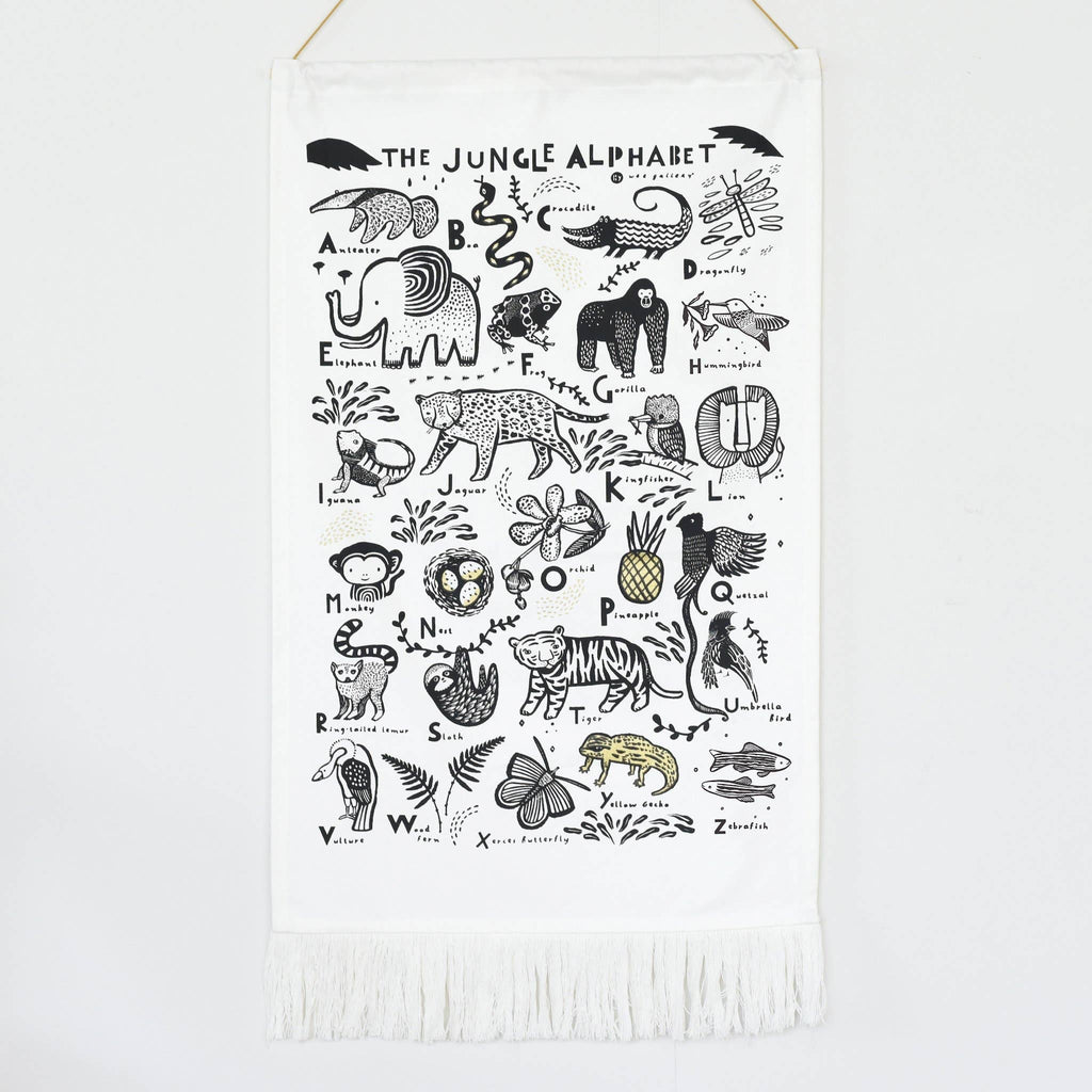 Wee Gallery - Jungle Alphabet Printed Tapestry