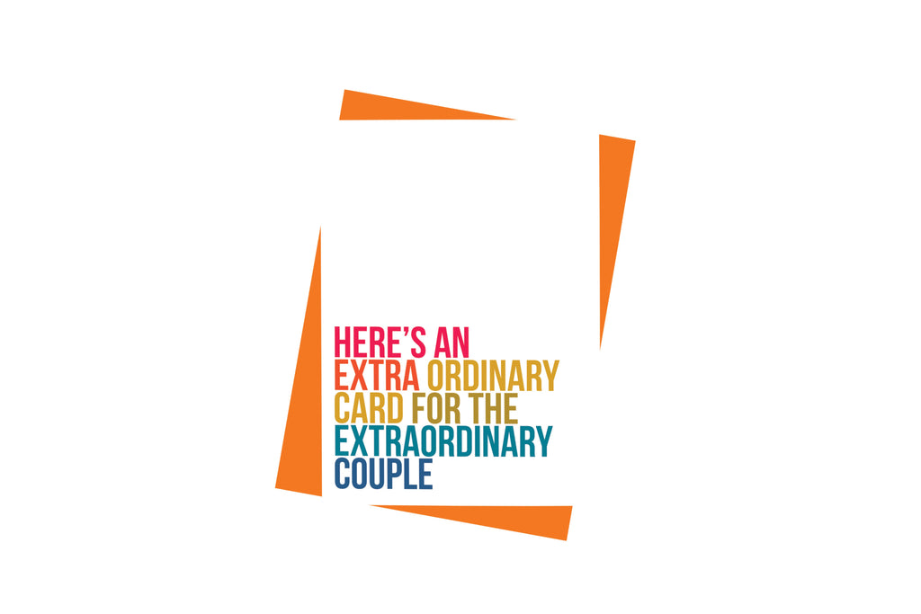 Paisley Paper Co. - Here's An Extraordinary Card For Extraordinary Couple Card